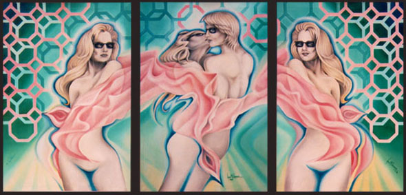 Venus, Oil on Canvas, triptych